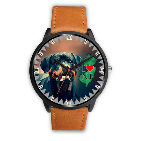 Rottweiler Dog Art New Jersey Christmas Special Wrist Watch-Free Shipping