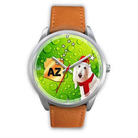 Afghan Hound Arizona Christmas Special Wrist Watch-Free Shipping
