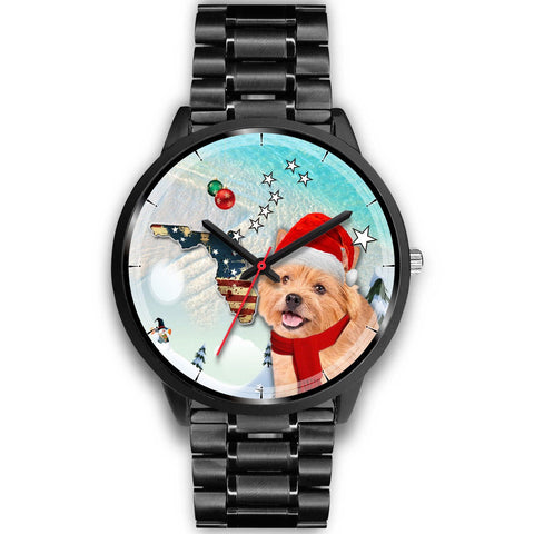 Norwich Terrier Florida Christmas Special Wrist Watch-Free Shipping