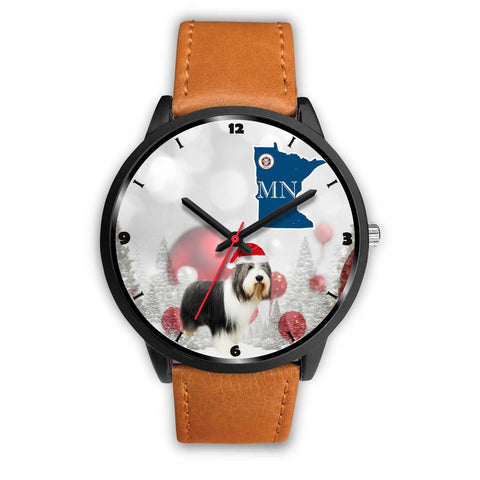 Bearded Collie Minnesota Christmas Special Wrist Watch-Free Shipping