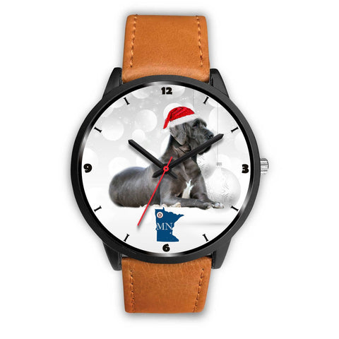 Great Dane Dog Minnesota Christmas Special Wrist Watch-Free Shipping