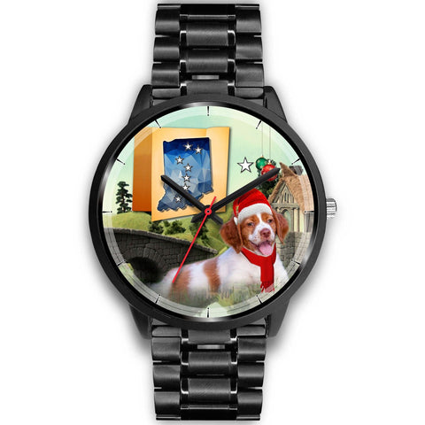 Brittany Dog Indiana Christmas Special Wrist Watch-Free Shipping