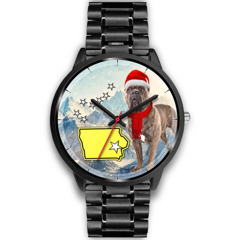 Cute Cane Corso Iowa Christmas Special Wrist Watch-Free Shipping