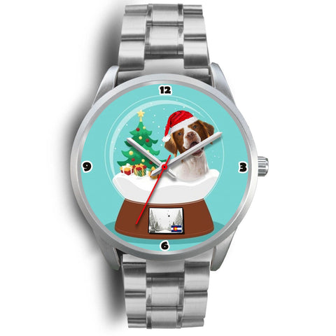 Brittany Dog Colorado Christmas Special Wrist Watch-Free Shipping