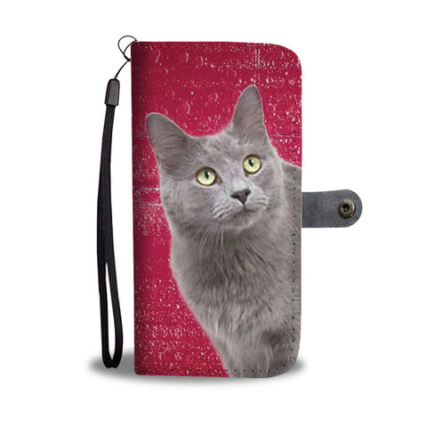 Nebelung cat Print Wallet Case-Free Shipping