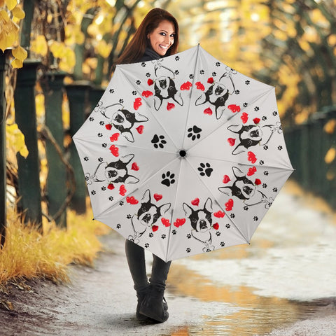 Boston Terrier Print Umbrellas