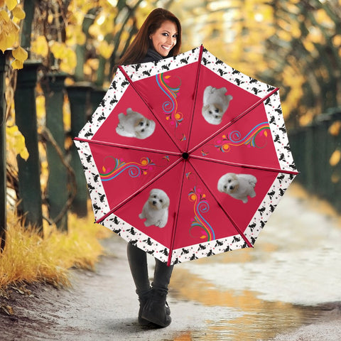 Maltese Dog Print Umbrellas