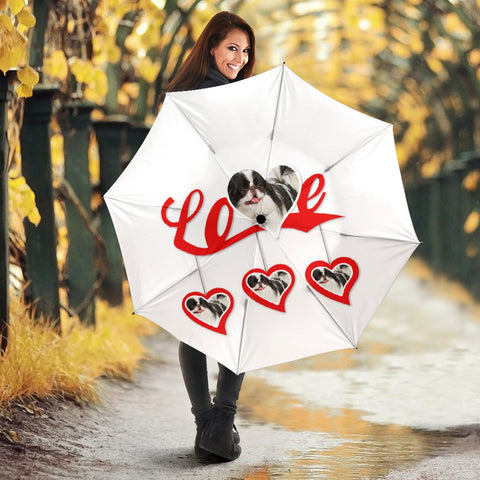 Japanese Chin Love Print Umbrellas