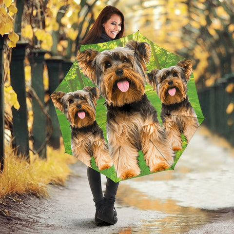 Lovely Yorkshire Terrier Dog Print Umbrellas