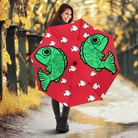 Fish Print Umbrellas