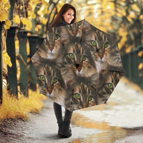 Maine Coon Cat Print Umbrellas