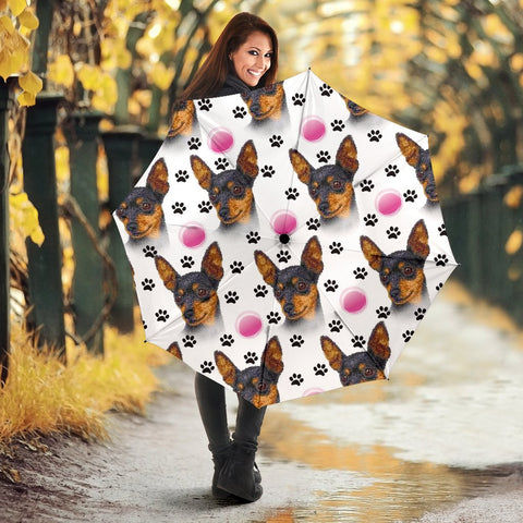 Miniature Pinscher Dog Print Umbrellas
