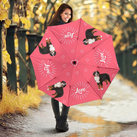 Bernese Mountain Dog Print Umbrellas