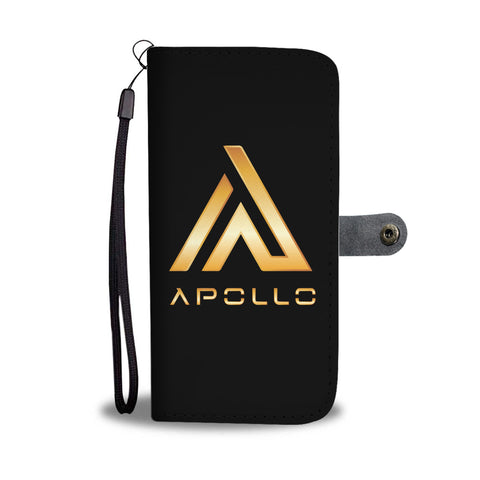 Apollo Phone Wallet Case Premium Gold Logo