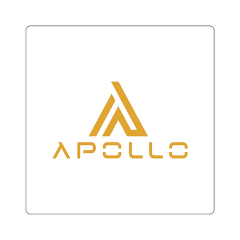 Apollo Logo Square Sticker/Gold