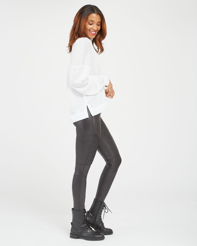Spanx Moto Faux Leather Leggings