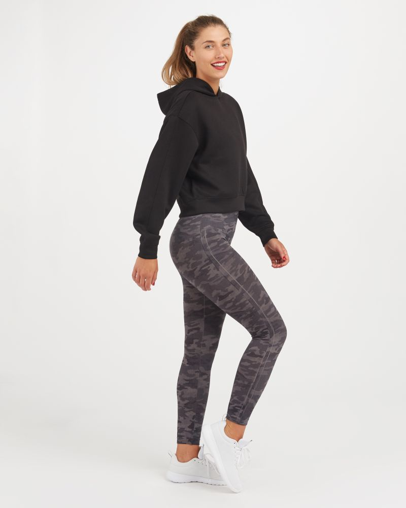SPANX Grey Camo Seamless Leggings