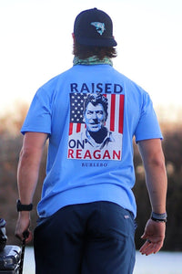 Raised on Reagan Periwinkle Tee