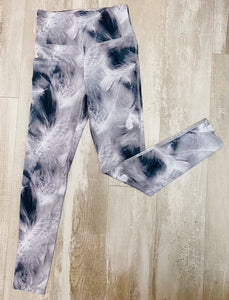 Run to You Feather High-waist Leggings