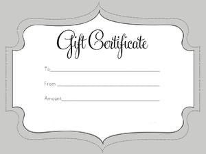 Gift Certificate 100.00