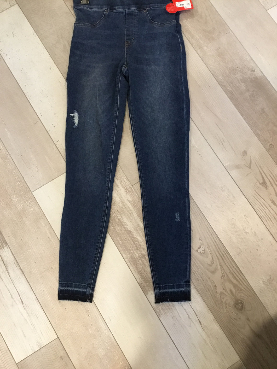 Spanx distressed jean leggings