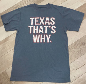 Texas That's Why Men's Tee