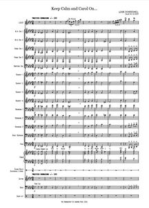 KEEP CALM AND CAROL ON - comp. Callum Au (Full Score and all parts) (PDF)