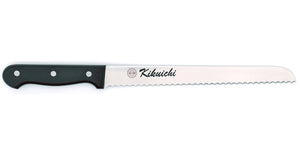 Kikuichi Cutlery Molybdenum Stainless Steel Bread Knife. Available in sizes 25 cm and 30 cm.