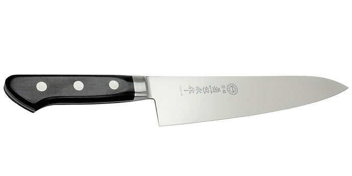 Kikuichi Cutlery Molybdenum Stainless Steel Gyuto. Chef's knife available in sizes 18 cm, 21 cm, 24 cm, 27 cm, and 30 cm.