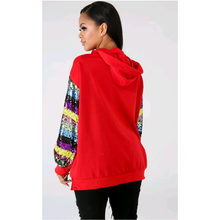 Load image into Gallery viewer, Old Glory Red Sequin Sweat Top