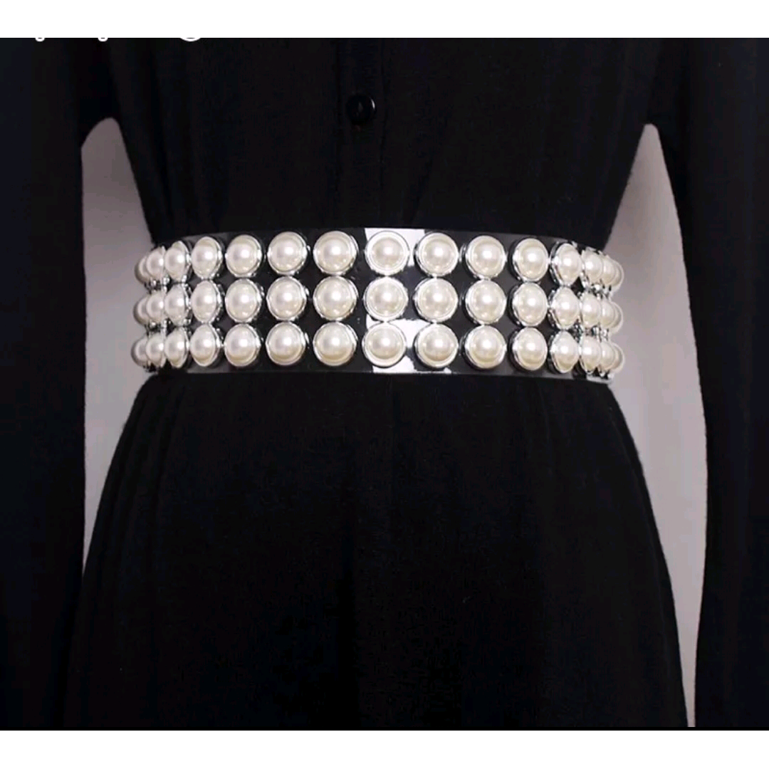Wisteria Clear Pearl Snap Closure Belt