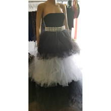Load image into Gallery viewer, Princess Monocrome Tulle Maxi Dress