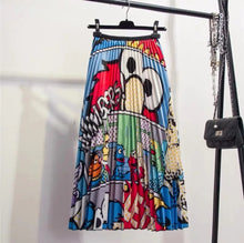 Load image into Gallery viewer, Elmo Numbers Pleated Midi Skirt