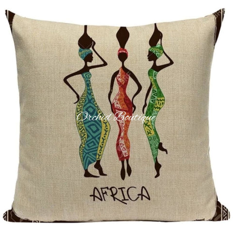 AFRICA Throw Pillow Cover - Orchid Boutique