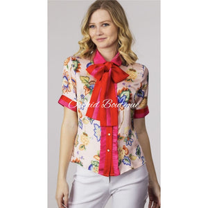 Alexis Pink Multi Bow Shirt - Orchid Boutique