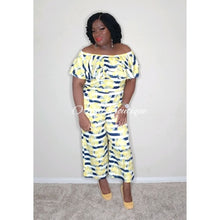 Load image into Gallery viewer, Amelia Yellow Floral Jumpsuit - Orchid Boutique