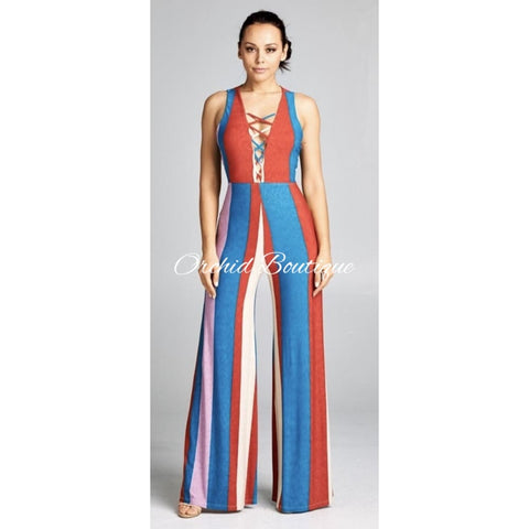 Amika Multicolor Jumpsuit - Orchid Boutique