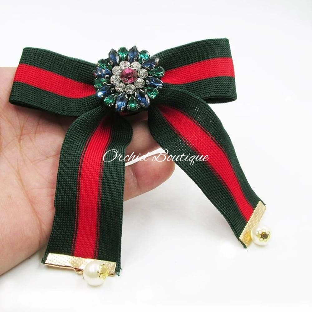 Amira Brooch Bow Ribbon - Orchid Boutique