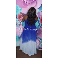 Load image into Gallery viewer, Antigua Royal Blue Tie Dye Maxi Dress - Orchid Boutique