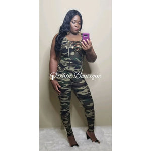 Army Girl Green Jumpsuit - Orchid Boutique