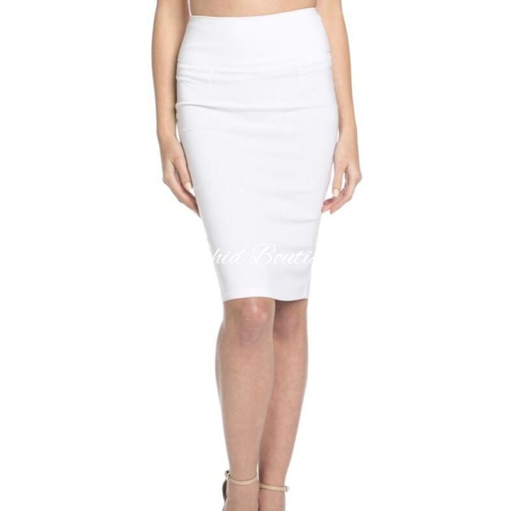 Audrey White Hook and Eye Skirt - Orchid Boutique