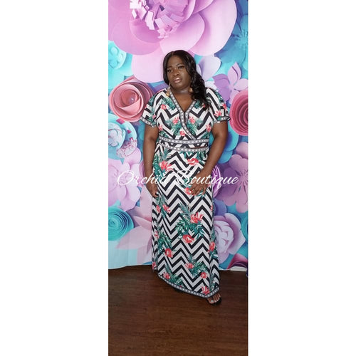 Bahamas Off White Multi Tropical Skirt Set - Orchid Boutique