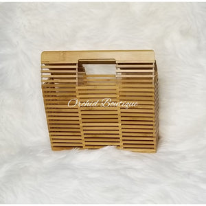 Bamboo Natural Square Bag - Orchid Boutique
