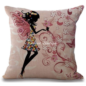 Butterfly Throw Pillow Cover - Orchid Boutique