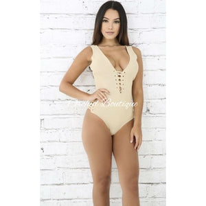Charlie Laced Nude Bodysuit - Orchid Boutique