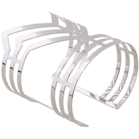 Chevron Simple Bangle - Orchid Boutique