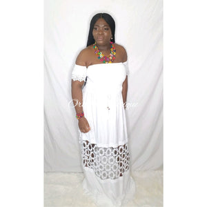Divine White Embroidery Maxi Dress - Orchid Boutique