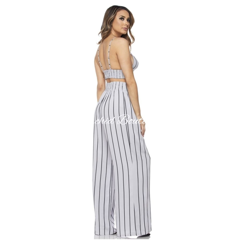 Endless Summer Gray Crop Top Pant Set - Orchid Boutique