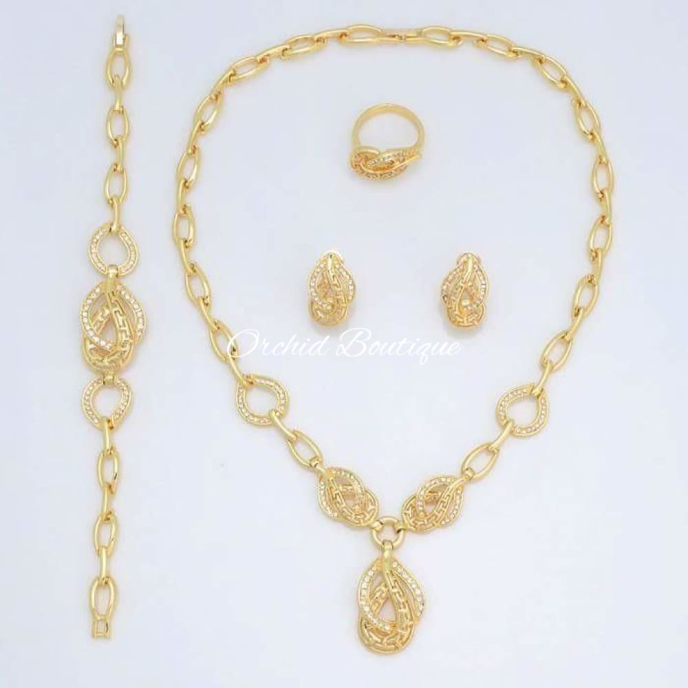 Erica Crystal Set - Orchid Boutique