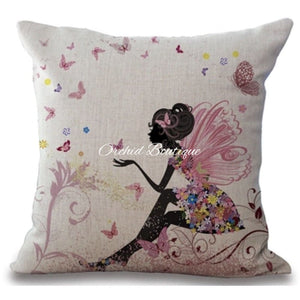 Garden Throw Pillow Cover - Orchid Boutique